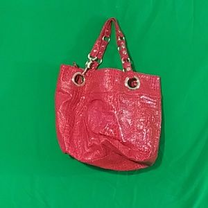 Steven by SM candy coated red embossed tote